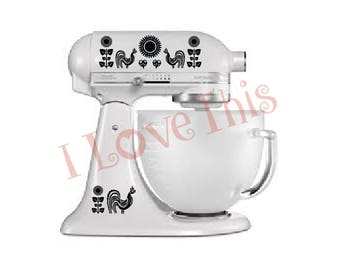 Pyrex Black Rooster vinyl decals - Perfect for your mixer