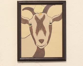 Goat and Chick Farm Print