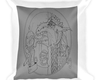Dragon Eating Ice Cream I Scream For Ice Cream Pillow