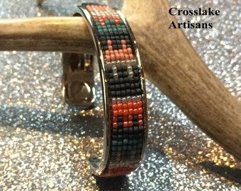 Beaded cuff bracelet, Beaded bangle bracelet
