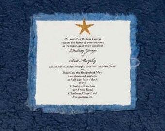 Unique and Custom Starfish Wedding Invitation SAMPLE