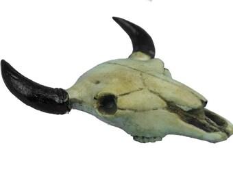 Realistic Miniature Buffalo Skulls - Two Pieces (356-30) G2