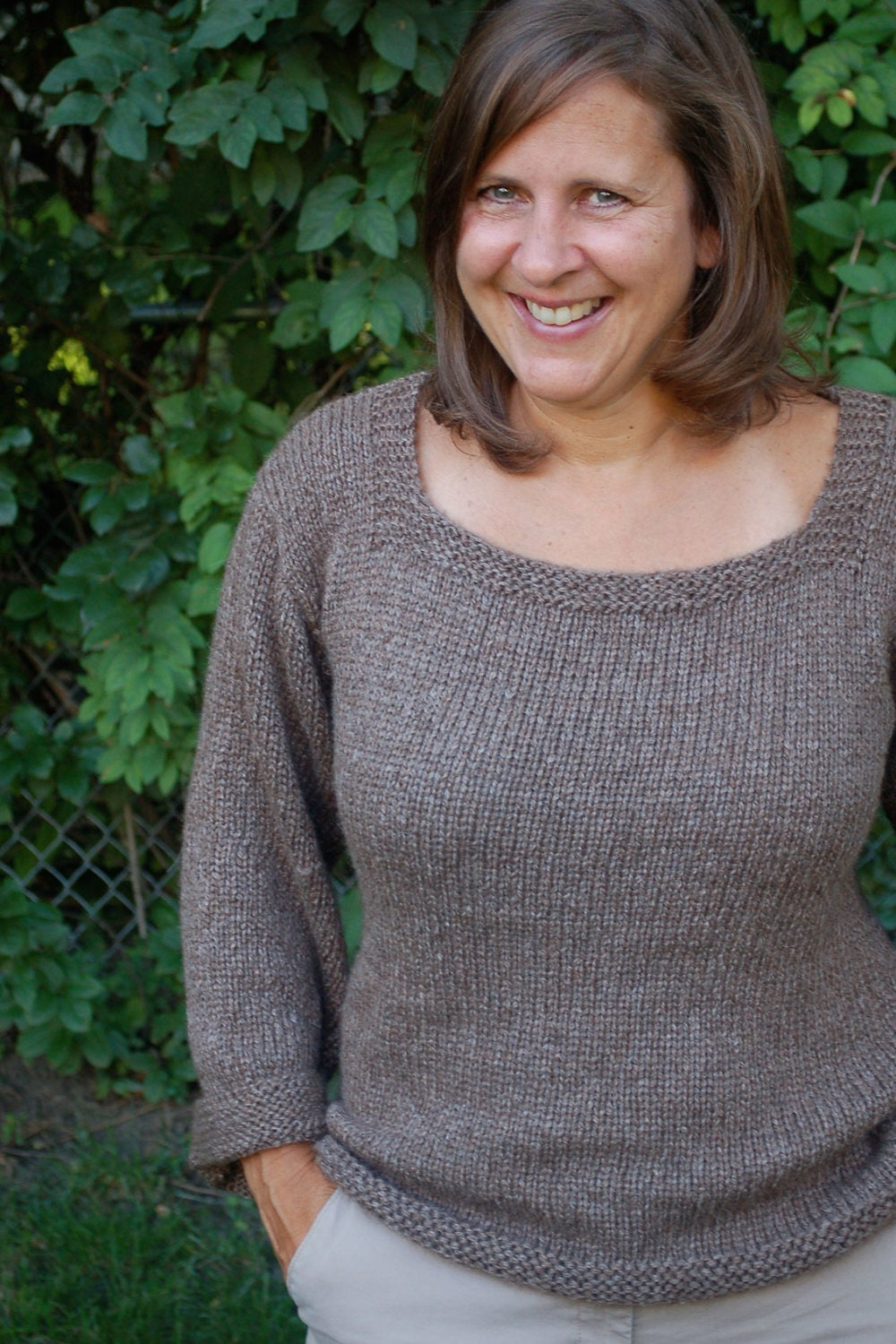 Easy to knit sweater, Easy knitting pattern, simple to knit sweater ...
