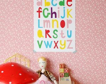 Ausverkauf! Größe A3 Poster Alphabet