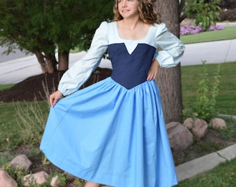 Adult Ariel, Little Mermaid, Blue Kiss the Girl Land Costume Dress