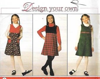 Simplicity 7723 Design Your Own Girls  Jumper Pattern, Size 7-10, UNCUT