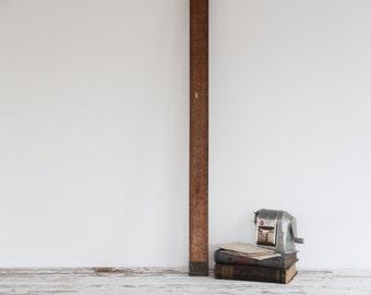 antique wooden framing rule, large ruler / carpenters tool, square
