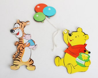 Winnie the Pooh vintage wall plaques