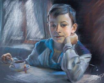 Personalized portrait from photo, Portrait painting, Children's portrait, Kid's portrait