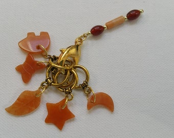 Carnelian Stitch Markers for Knitting Knitting Stitch Markers