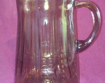 Vintage Smoky Glass Pitcher