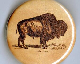 American Buffalo/Bison 1.25 inch BUTTON