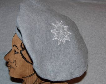Beanie style beret, very flattering shape.