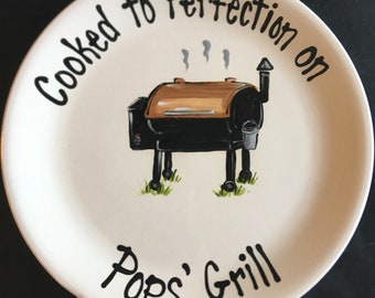 Personalized BBQ Grill Platter for Dad or any Special Chef - Big Green Egg - Great Fathers Day Gift
