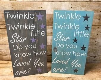Twinkle twinkle little star sign, nursery decor