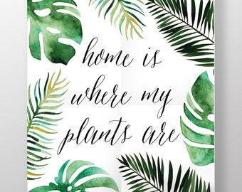 Home is Where my Plants Are ARCHIVAL ART PRINT