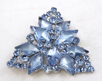 Juliana Pin Brooch Diamond Shape Rhinestones 3-D Design