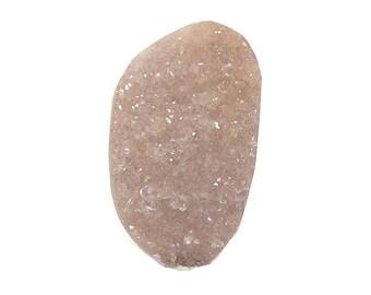 Druzy Quartz Sparkling Champagne Jewel Natural Semiprecious Glistening Gemstone Raw Top Cabochon Twinkle Gem stone
