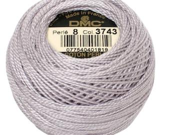 DMC 3743 Perle Cotton Thread   Size 8   Very Light Antique Violet
