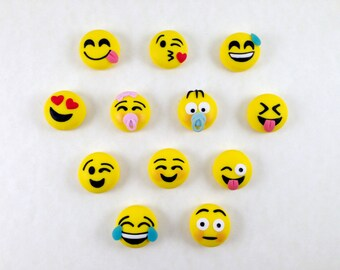 Smile Magnet in Fimo handmade hand-made gift idea for him for him made in Italy wedding favor-polymer clay yellow handmade smile magnet