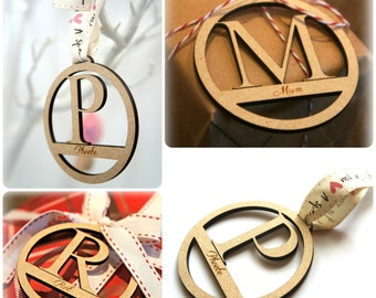 Personalised Wooden Name Gift Tag