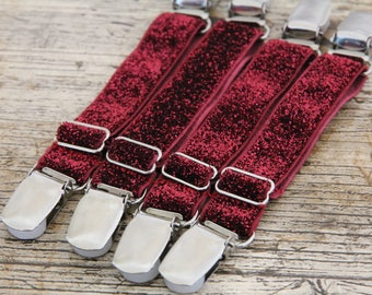 THIGH HIGH sock GARTERS - crocodile clips - onto shorts or knickers - pretty shabby flowers - independance day -  Gothic sock suspenders