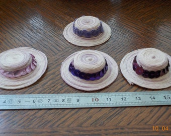 Hat shades of purple-shiny Ribbon or lace 1/12 scale