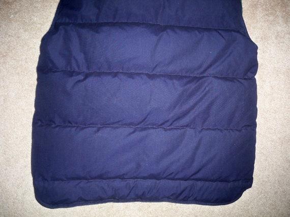 Rare BAUER Size Medium Down Blue Vintage Puffy Vest Men's Goose EDDIE Puffer 1qw1Ur