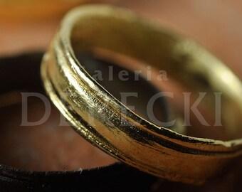 Lorum - Roman-styled wedding ring set made of 0,585 gold