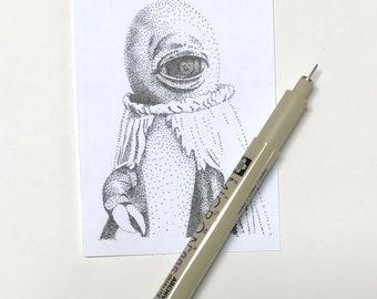 Alpha Centauri Miniture Dotwork Drawing