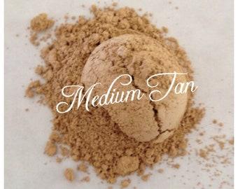MEDIUM TAN Foundation Organic Beauty Mineral Cosmetics Vegan, Gluten free, green tea, jojoba oil Hand Crafted All Natural Gluten Free