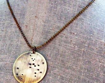 Sagittarius Necklace - Constellation Jewelry, November - December Birthday Stamped Zodiac Necklace by E. Ria Designs