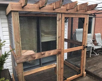 Custom Cat Enclosure Pergola's