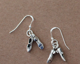 Earrings - Sterling Silver  TAP DANCING SHOES  - Arts, Dance, 3-Dimensional
