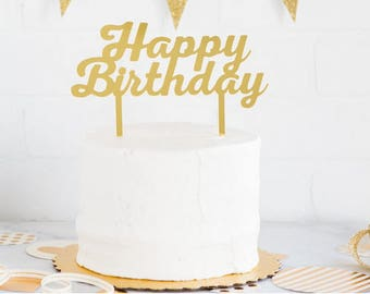 Happy birthday Cake Topper   Birthday Cake Topper   Baby Shower Topper   Baby Shower   Cake Smash   Princess Decorations   Castle topper
