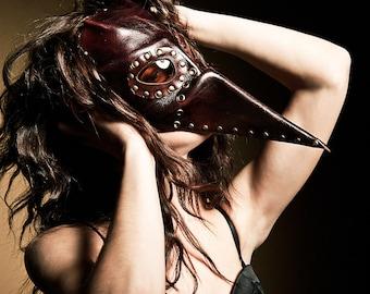 Steampunk leather mask - Plague Doctor - Pestarzt -