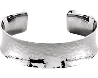 Sterling Silver Cuff Bracelet w/ Hammered Finish