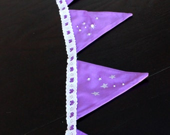 Wreaths of heart pennants and stars