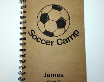 Soccer Camp, Soccer Camp Notebook, High School Soccer,  Soccer, Notebook, Journal, Best Friend Gift, Notebook, gift, Sketchbook, Diary