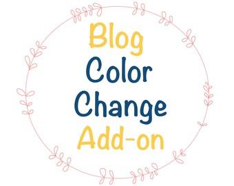 Color change in wordpress template, custom wordpress theme