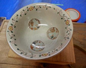 Japanese Kutani Bowl in Wooden Box