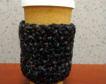 """Black, Gray and Red """"Bax-to-Rama"""" Reusable Cup Sleeve."""