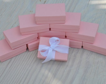 20 Light Pink 3.25x 2.25x1 Gift Jewelry Boxes Presentation with Cotton Fill