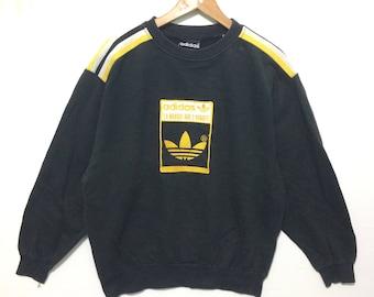 Adidas Big Trefoil Logo Embroidered Black Color