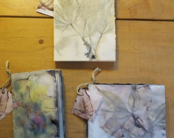 Handmade Plant Stained Journals and Sketchbooks
