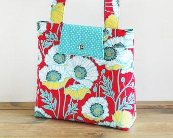 Retro Handbag Sewing Pattern PN301 Large Retro Style Bag with Closure Options