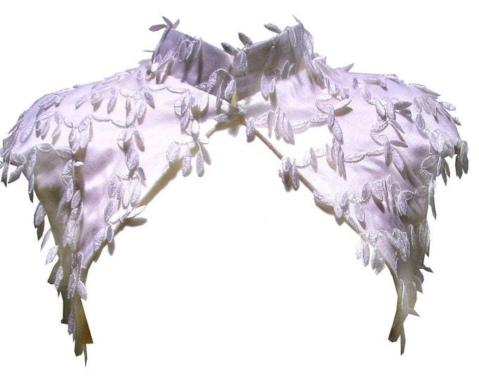 Fancy bridal jacket bolero lace and leaves ivory