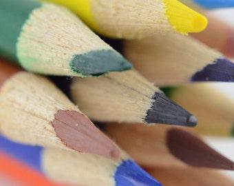 Color Pencils Note Card