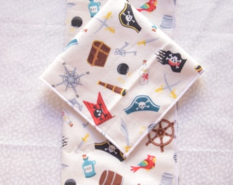 set of 2 small pirate handkerchiefs