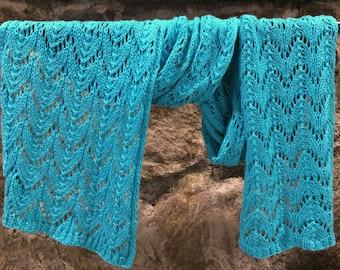 Waterfall Hand Knit Lace Wrap